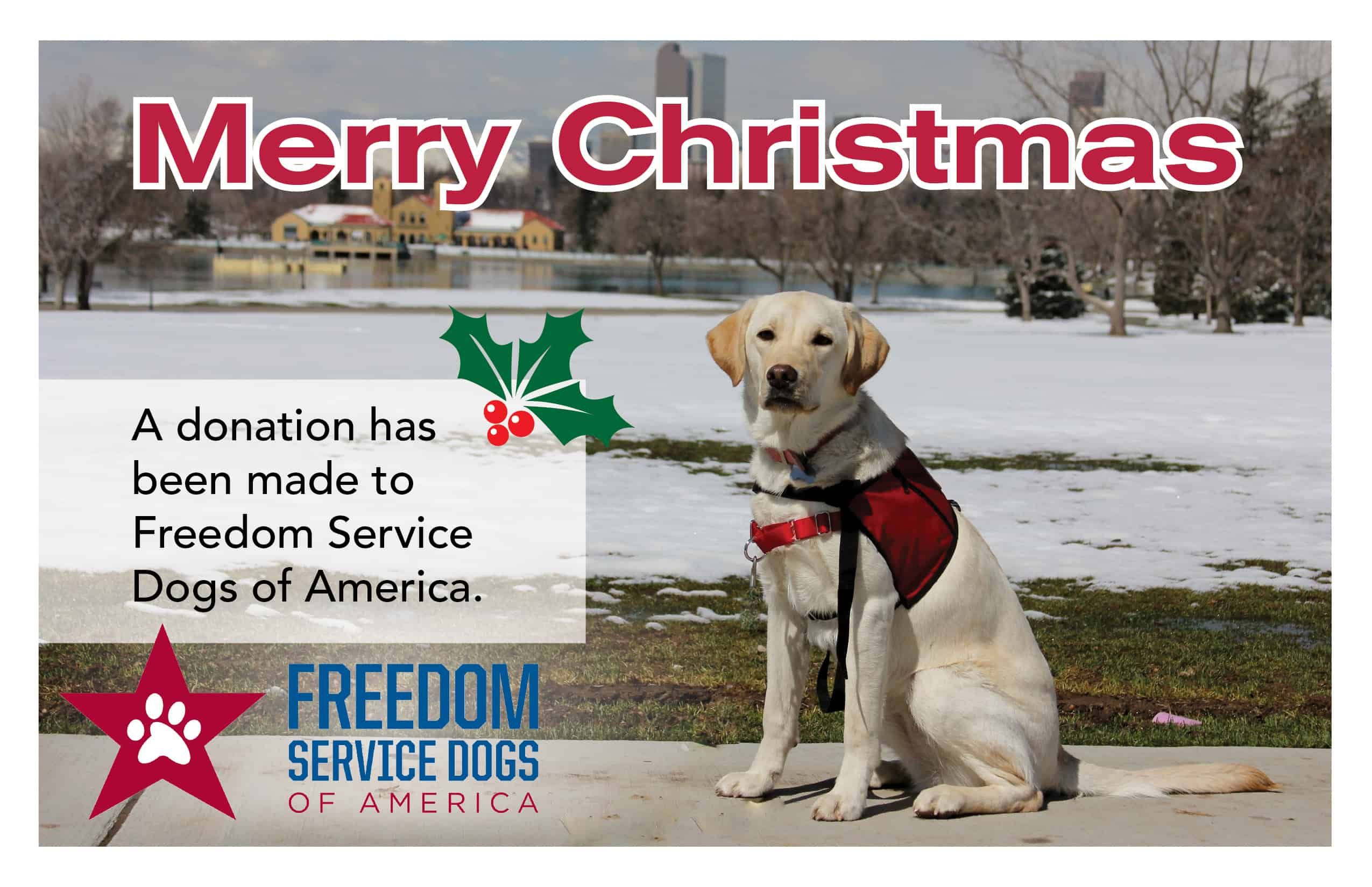 Freedom Service Dogs » Blog Archive Merry Christmas Card #2 ...