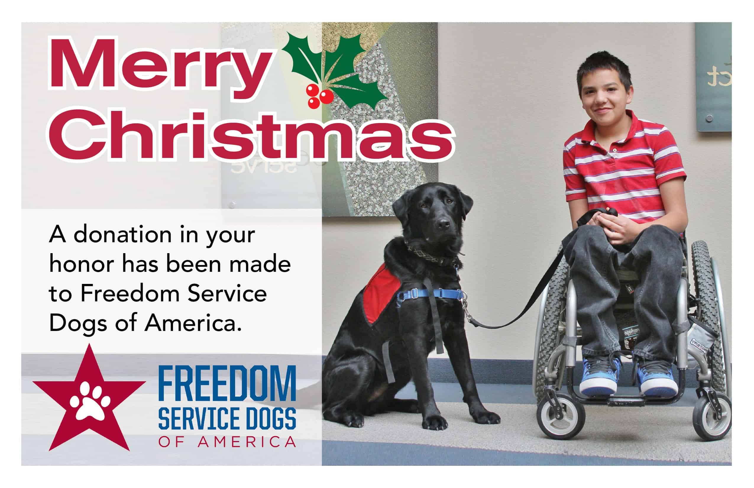 Freedom Service Dogs » Blog Archive Merry Christmas Card - Freedom ...