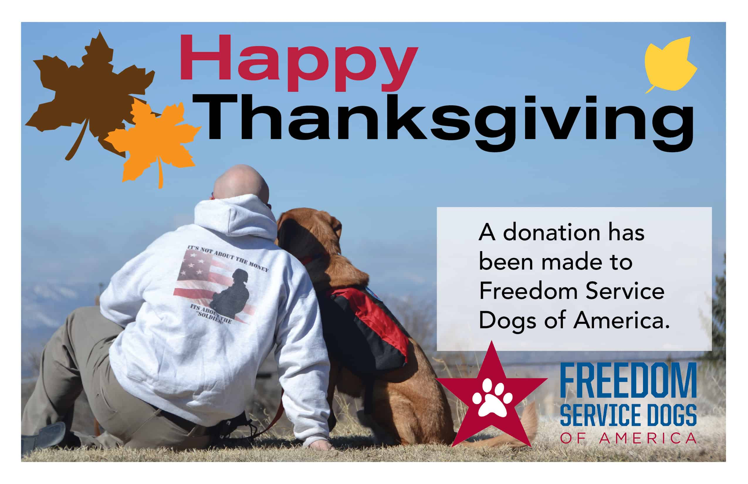 Freedom Service Dogs Blog Archive Happy Thanksgiving Card