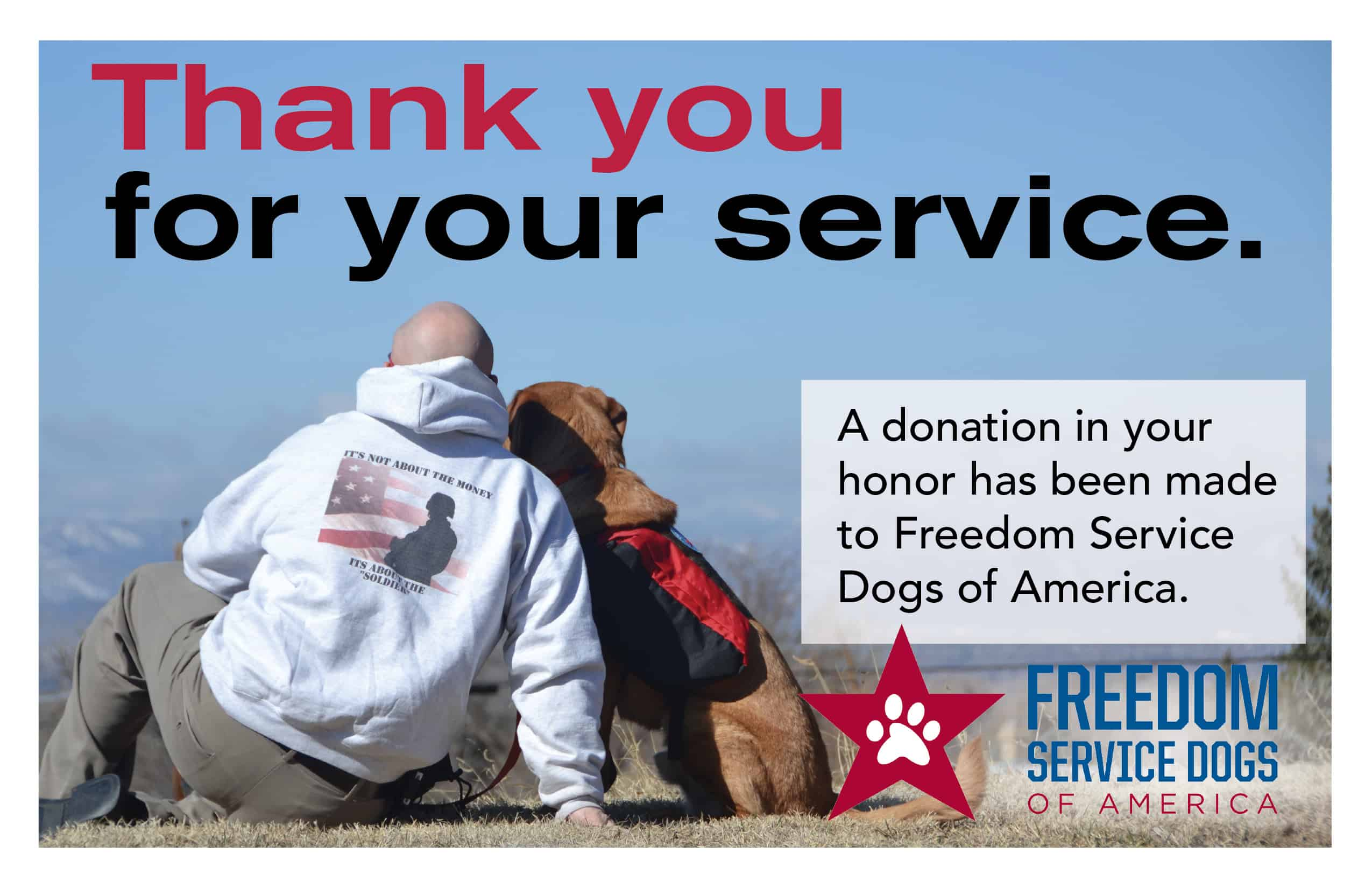 Freedom Service Dogs Blog Archive Thank You For Your Service